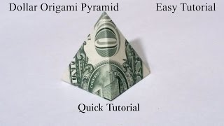 Dollar Origami Pyramid Quick Tutorial. How to fold a Dollar Origami Pyramid