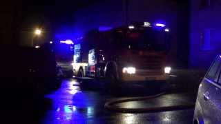 Pożar w bloku na ul. Krakowskiej w Krośnie