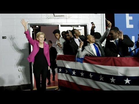 Video thumbnail for Elizabeth Warren speaks in Atlanta, GA about the washerwomen's strike of 1881