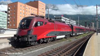 preview picture of video 'Trains at Innsbruck Hbf 8 august 2014'
