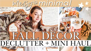 FALL DECOR DECLUTTER WITH ME🍂 MINIMALIST Haul From MICHAELS, TARGET, AMAZON | Fall HOME DECOR TOUR