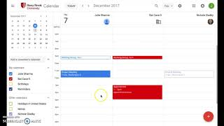 View Options in New Google Calendar Including Year View & Side-by-Side Calendars