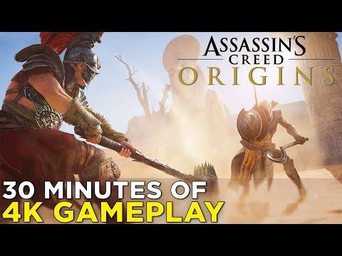 Assassin's Creed Origins on XBOX ONE X — 30 Minutes of 4K GAMEPLAY! Combat, Quests, & More!