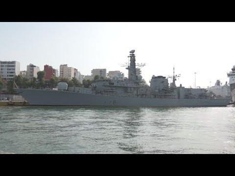 Ξενάγηση στο HMS Kent του Πολεμικού Ναυτικού του Ηνωμένου Βασιλείου