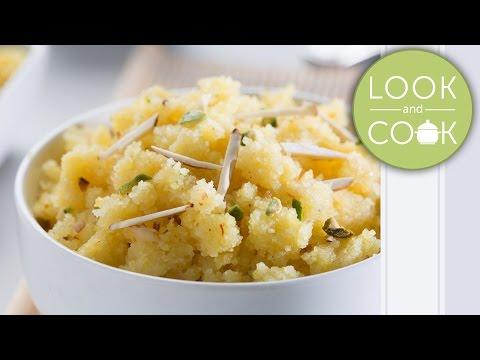 Semolina desert recipe – Look and Cook step by step recipes | How to cook Semolina desert