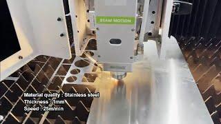 Customer made AKJ1020F 10002000 mm fiber laser metal laser cutting 2000 watt cutting machine with f youtube video