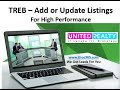 Hot Leads - TREB Training to ADD and Update Listings for SEO - By Uroc365.com