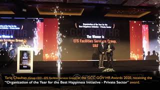 EFS wins Organization of the Year for Best Happiness Initiative – Private Sector for 2020