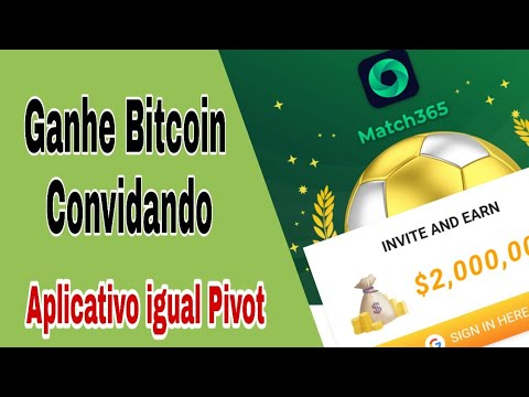 Novo Aplicativo para Ganhar Bitcoin Convidando ( App igual o Pivot )