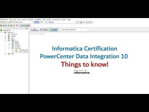 01 Things to know! Informatica PowerCenter Specialist Certification ...