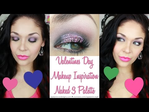 Valentines Day Makeup Look Naked 3 Palette Collab