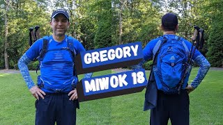 Gregory Mountain Miwok 18 2020 Liter Men's Hiking Daypack Backpack Review