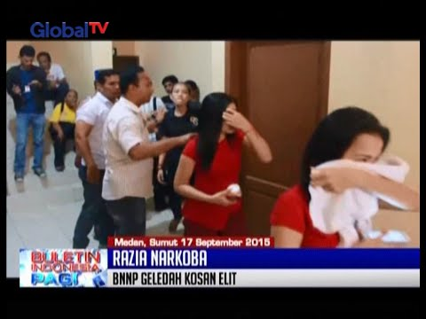 BNN Razia Kos-Kosan Elit Di Medan, SuMut, 24 Orang Positif Konsumsi Narkotika - BIP 18/09
