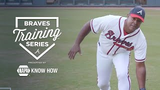 Braves Training Series   Fielding: Outfield Ground Balls with Brian Jordan