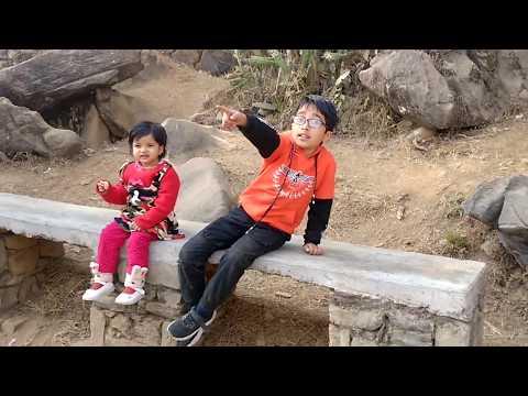 Funny traveller kids video. Chovar - Manjushree park ! The secret cave.