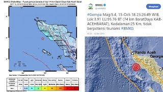 Gempa 5,4 SR yang Guncang Banda Aceh Tidak Berpotensi Tsunami