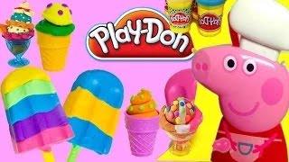 Peppa Pig Play Doh   Create Play Doh Sundae Card Ice Cream With Peppa Pig Fun Videos !