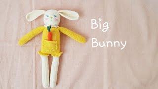 How to knit a doll-Big Bunny(part1) knitting doll 대바늘인형 손뜨개인형 애착인형 태교인형