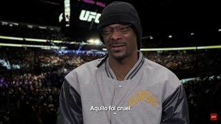 UFC 209: Snoop Dogg não resiste ao poder de nocaute de Tyron Woodley