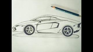 How To Draw A Sports Car Lamborghini 免费在线视频最佳电影电视节目