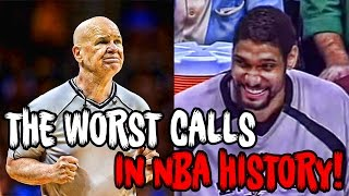 The 12 Most RIDICULOUS Calls In NBA History!