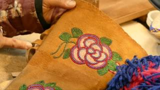 Teri Greeves Demonstrates Beading Techniques For Moccasins