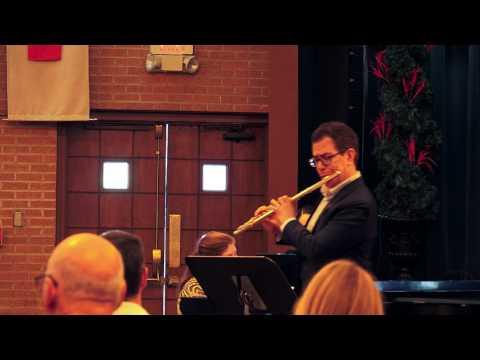 CPE BACH Hamburger Sonata - Allegretto - Live at the Arizona Flute Society - Marco Granados, flute