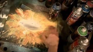 How To Spray Paint The Eye Of Horus, Galaxy, Spray Paint Eye, Flames#2