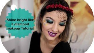 "Shine bright like a diamond makeup tutorial for : "" Nyx  Face Awards România 2017 """