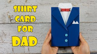 Shirt Card for DAD | DIY Father's Day Card | Craft for Kids
