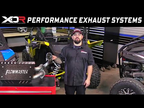 Flowmaster/XDR Performance Exhaust for Can-Am Maverick, Polaris RZR and Yamaha YXZ