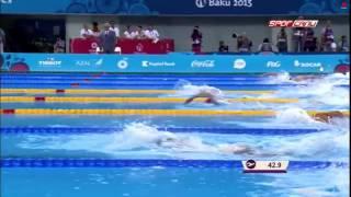 Erge Gezmis -Baku 2015 European Games -Erkekler 200 m serbest yari final