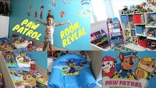 PAW PATROL BEDROOM REVEAL | TODDLER BEDROOM REVEAL | BIG BOY ROOM MAKEOVER