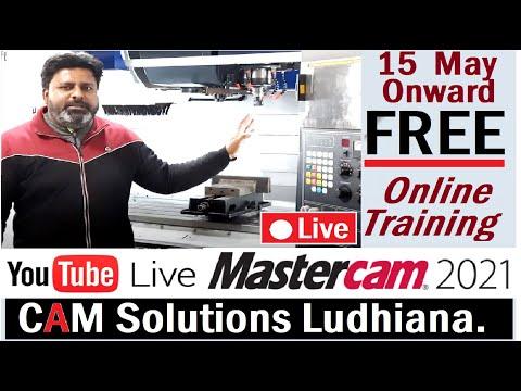 Mastercam 2021 -2022 Day-5 Free Online Training Tutorials Cam ...