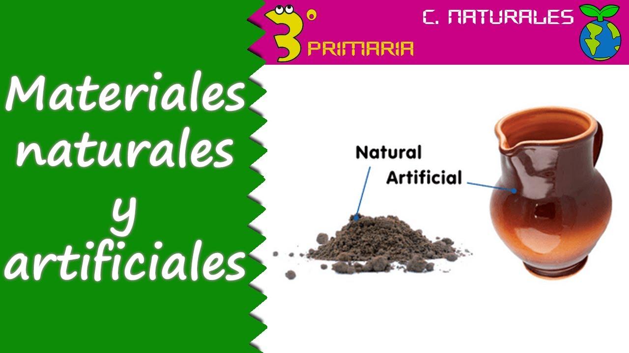 Ciencias de la Naturaleza. 3º Primaria. Tema 6. Los materiales, naturales y artificiales