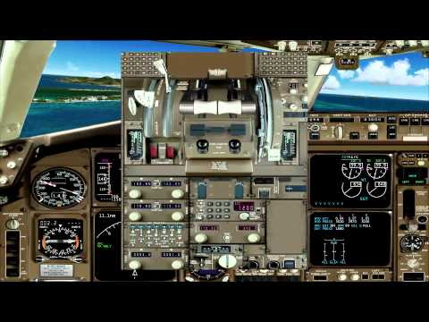 Level D 767 visual approach in to Princess Juliana