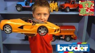БРУДЕР Строительные Машинки Обзор Игрушек с Игорьком и Ариной Развлечения для детей Bruder Toys