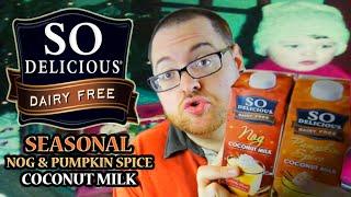 So Delicious Dairy Free Nog & Pumpkin Spice Coconut Milk Beverage Drink Review!