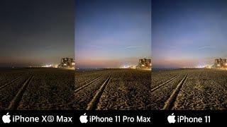 iPhone 11 Pro Max vs iPhone Xs Max vs iPhone 11 | Camera Test