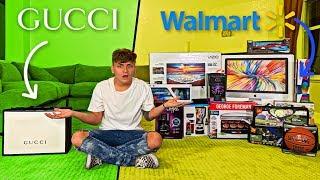 $1,000 At Gucci VS. $1,000 At Walmart (IMPOSSIBLE SHOPPING CHALLENGE)