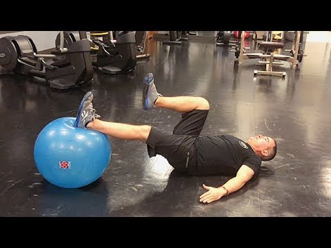 One-Leg Stability-Ball Leg Curl