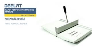 Paper Perforating Machine - Manual
