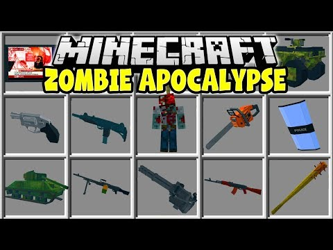 Minecraft ZOMBIE APOCALYPSE MOD | TRY AND SURVIVE IN THE ZOMBIE APOCALYPSE!!