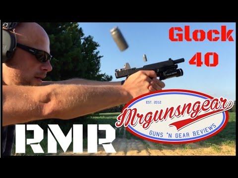 Glock 40 MOS 10mm Longslide With Trijicon RMR RM01 Micro Red Dot (HD)