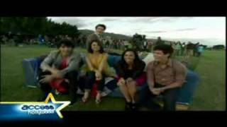 send it on official behind the scenes miley cyrus demi lovato selena gomez jonas brothers