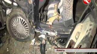 Минувшей ночью в Алматы в ДТП погибли двое полицейских