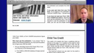 Form 1040 Child Tax Credit For 2012, 2013