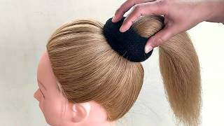 Bun Hairstyles For Medium Hair | Easy Bun Hairstyles With Trick For Wedding & Party | Prom Hairstyle
