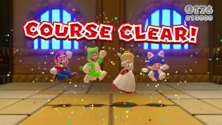 Super Mario 3D World 4 Player Co-Op World 1 (No Castle)