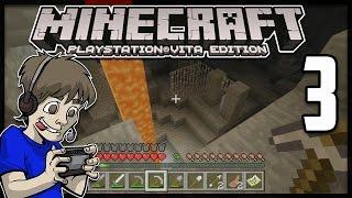 Minecraft PS Vita - CAVE EXPLORING - Part 3 (PS Vita Minecraft Gameplay)